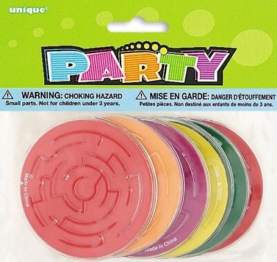 Maze Puzzles Assorted Color Pack Of 6 Party Favors Loot Bag Filler