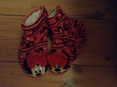 Minnie Mouse Boot Slippers - girls size 12-2