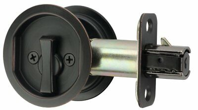 round bed / bath privacy pocket door latch oil rubbed bronze