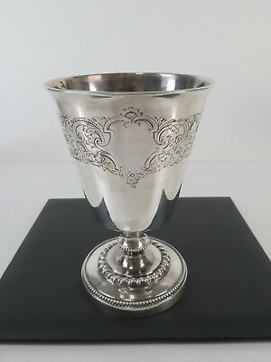 Fine Early 19th Century French Sterling Silver Footed Wine or Water Goblet