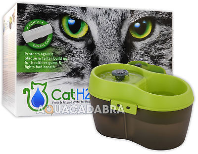 Cat H2O Fountain Fresh Filtered Water Healthy Cats Drinking 2L Dental Care H20