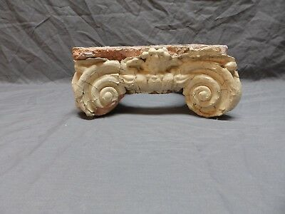 Antique Terracotta Ionic Column Capital Shabby Vintage Chic Decorative 172-18P