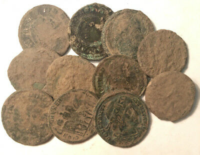 >>> Beautiful High Quality Uncleaned Ancient Roman coins 10pcs <<<