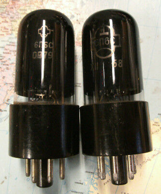 2 Stk 6P6S Russische  beamtetrode Tube 6V6GT  premium PC matched pair Protokoll
