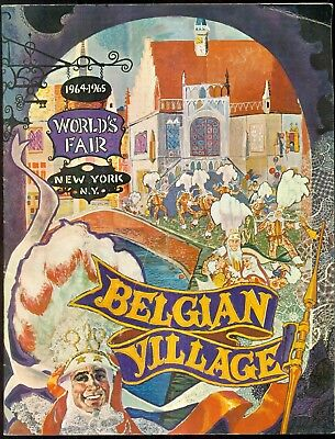 1964-1965 New York World's Fair Belgian Village Souvenir Book