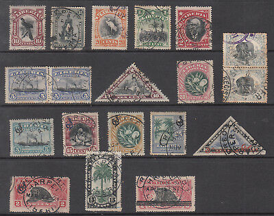Liberia Cockrill CP.20 USED REGISTRATION Cancels 17 ALL DIFFERERNT