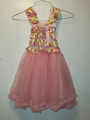Wenchoice Girls Floral Print Lace Ruffled dress with Tutu Skirt S d9359d303