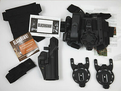 BLACKHAWK! MULTIFUNKTIONS HOLSTER SET P8 NEU SCHWARZ RECHTS german army kit new
