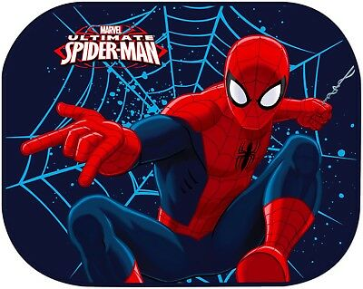 2 pcs Disney SPIDER-MAN Car Side Window Sunshades Screen Mesh Visor Baby Boy E64