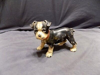Antique Hubley Cast Iron Boston Terrier Puppy Doorstop