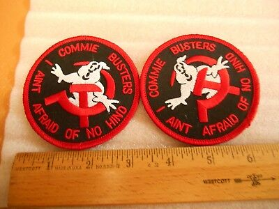2 of the same COMMIE BUSTERS I AINT AFRAID OF NO HIND AIR FORCE INSIGNIA PATCH