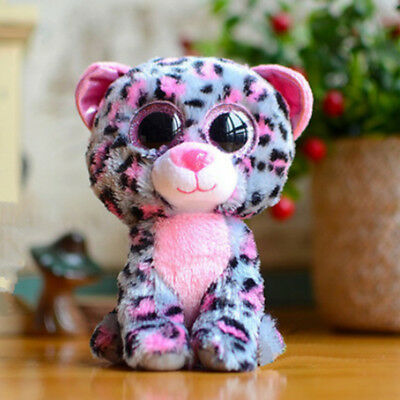 Cute purple/pink panther TY Beanie Boos Plush Stuffed Toys Glitter Eyes(6 inch)