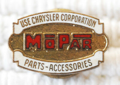 Old Chrysler MoPar Parts & Accessories Salesman or Employee Lapel Pin