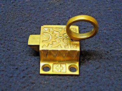 Antique Cast Brass Eastlake Cabinet Cupboard Latch no Keeper