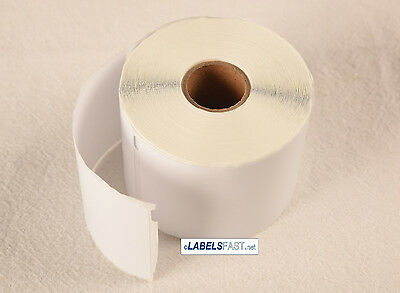 """30256 White Labels 2-5/16"""" x 4"""" compatible with Dymo LabelWriter 4XL Duo 8 Rolls"""