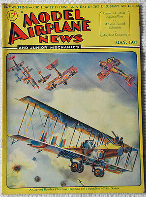 Model Airplane News Magazine May 1931 Fabulous Cover Graphics  must see