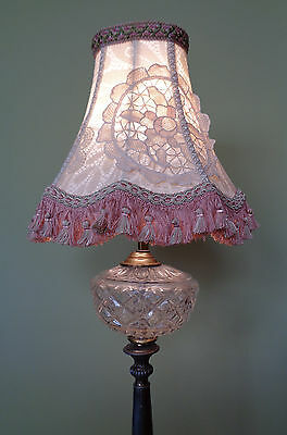 Victorian Edwardian Style Shabby Chic Vintage Lace Lampshade OOAK Handmade