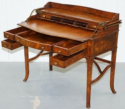 Rrp £1999 Theodore Alexander The Residency Military Campaign Desk Leather Top