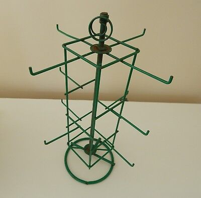 AWESOME Old Green METAL TURNABLE INDUSTRIAL ~ Store Display RACK~