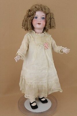 "26"" antique bisque head composition German Armand Marseille Dolly Face Doll"