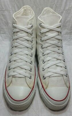 Converse USA  1990's New Vintage all star hi optical white sz10.5 men's