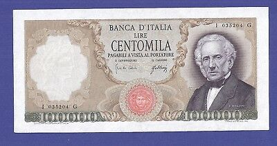 Uncirculated 100.000 Lire 1967 Banknote From Italy. Super High Value !!!