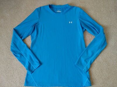 Womens Under Armour Coldgear Compression Long Sleeve Blue XL