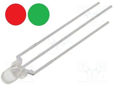 LED bicolores ROUGE VERT ANODE 3mm Diffused Arduino DIY