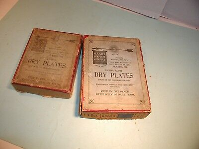 """2 Early 1900's """" M. A. Seed Dry Plate Co."""" St. Louis Boxes"""