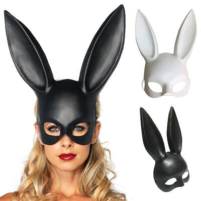 Masquerade Bunny Girl Face Mask Rabbit Ears Mask Prom Party Event Costume Modish