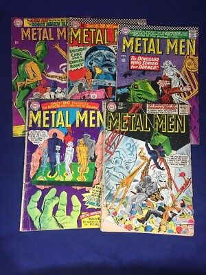 Metal Men 4,16,18,20,32 DC 5 Issue Lot! Silver Age
