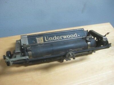 Antique Underwood No. 3 Typewriter Carriage & Roller For Parts Or Repair