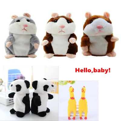 Talking Hamster Mouse Panda Plush Toy Cute Speak Sound Record for Child Baby set