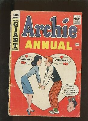 Archie Annual 13 GD 2.0 * 1 Book * Archie Comics! Harry Lucey! Veronica! Color!