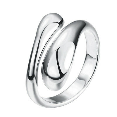 Charms Silver Tone Rings Open Adjustable Geometry Rings