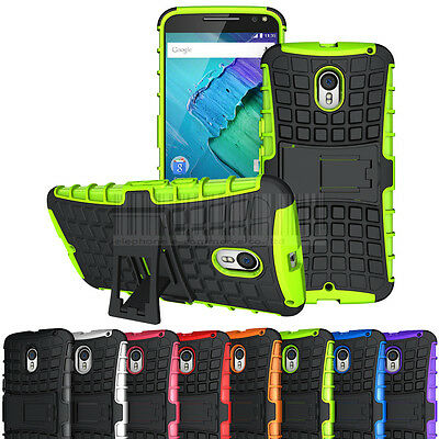 For Motorola Moto X Style Pure Edition Rugged Hybrid Hard Case Protective Cover