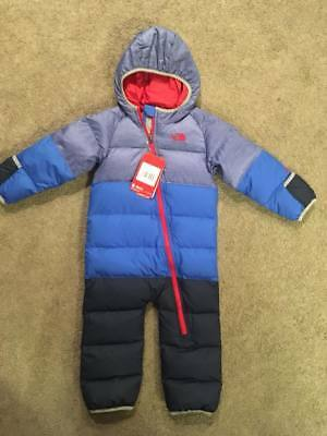 NWT Infant The North Face Lil Snuggler Down Bunting Down Snowsuit 18-24 mo.