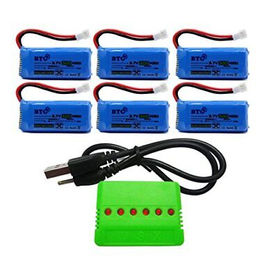 500mAh 3.7V Upgrade Battery & X6 Charger for F180C JJRC H37 H6D H6C H31 Drone
