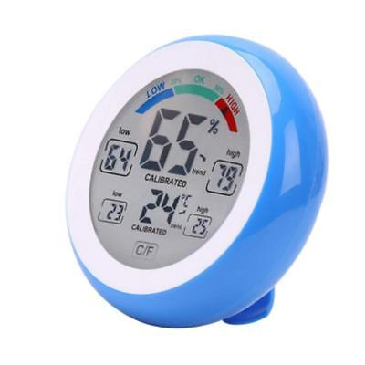 Digital LCD Thermometer Hygrometer Humidity Temperature Meter Gauge Blue
