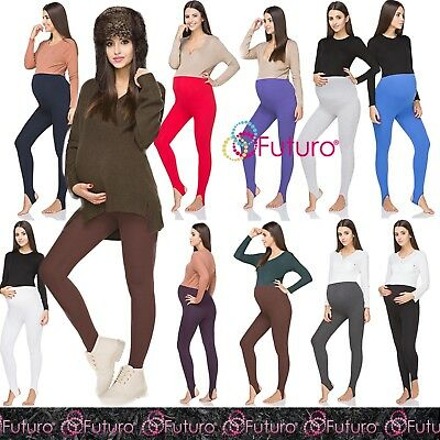 Pregnancy Maternity Winter Cotton Leggings Stirrup Pants with Fleece PREG-LS