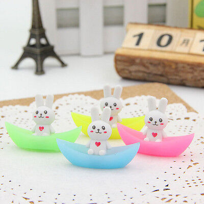2X Rabbit Ship Luminous Rubber Eraser Stationery School Supplies Gifts For Kid0W