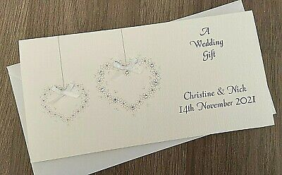 Handmade Personalised Money Wallet Gift Card, Wedding Engagement, Birthday