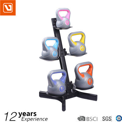 LiveUp Heavy Duty 3 Tiers Layers Kettle Bell Storage Rack Stand Home Gym Fitness