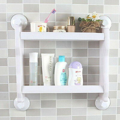 New Bathroom Kitchen Corner Storage Rack Organizer Shower Shelf Plastic Holder