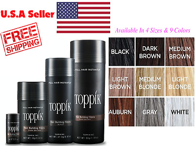 TOPPIK Hair Loss Building Fiber available In 4 Sizes NEW FREE and FAST SHIPPING
