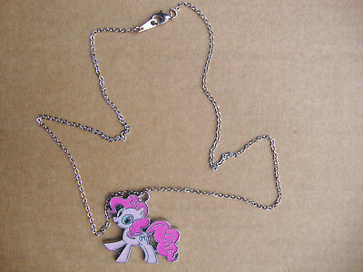 "My Little Pony ""Pinkie Pie"" charm & Silver plated 18"" necklace & lobster clasp"
