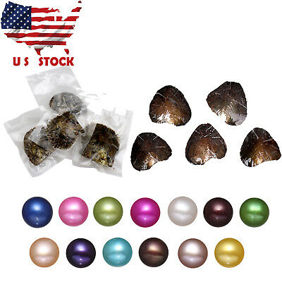 Seawater/Freshwater Individually Wrapped Akoya Oysters 6-7mm Pearls US Shipping