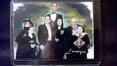 The Addams Family Rare Limited Edition Sketch 23/25 Signed By Artist Edward Vela