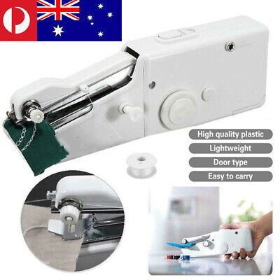 Mini Portable Handheld Cordless Sewing Machine Hand Held Stitch Clothes Home