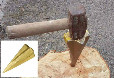 Log Bomb 4 Way Split Splitter Splitting Wood Grenade Wedge Maul Axe Burner New
